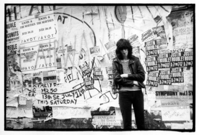 Joey Ramone, St.Marks Place NYC 1981