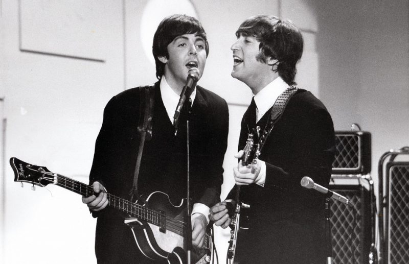 John Lennon und Paul McCartney von den Beatles