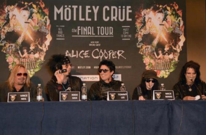 Mötley Crüe Pressekonferenz 2015