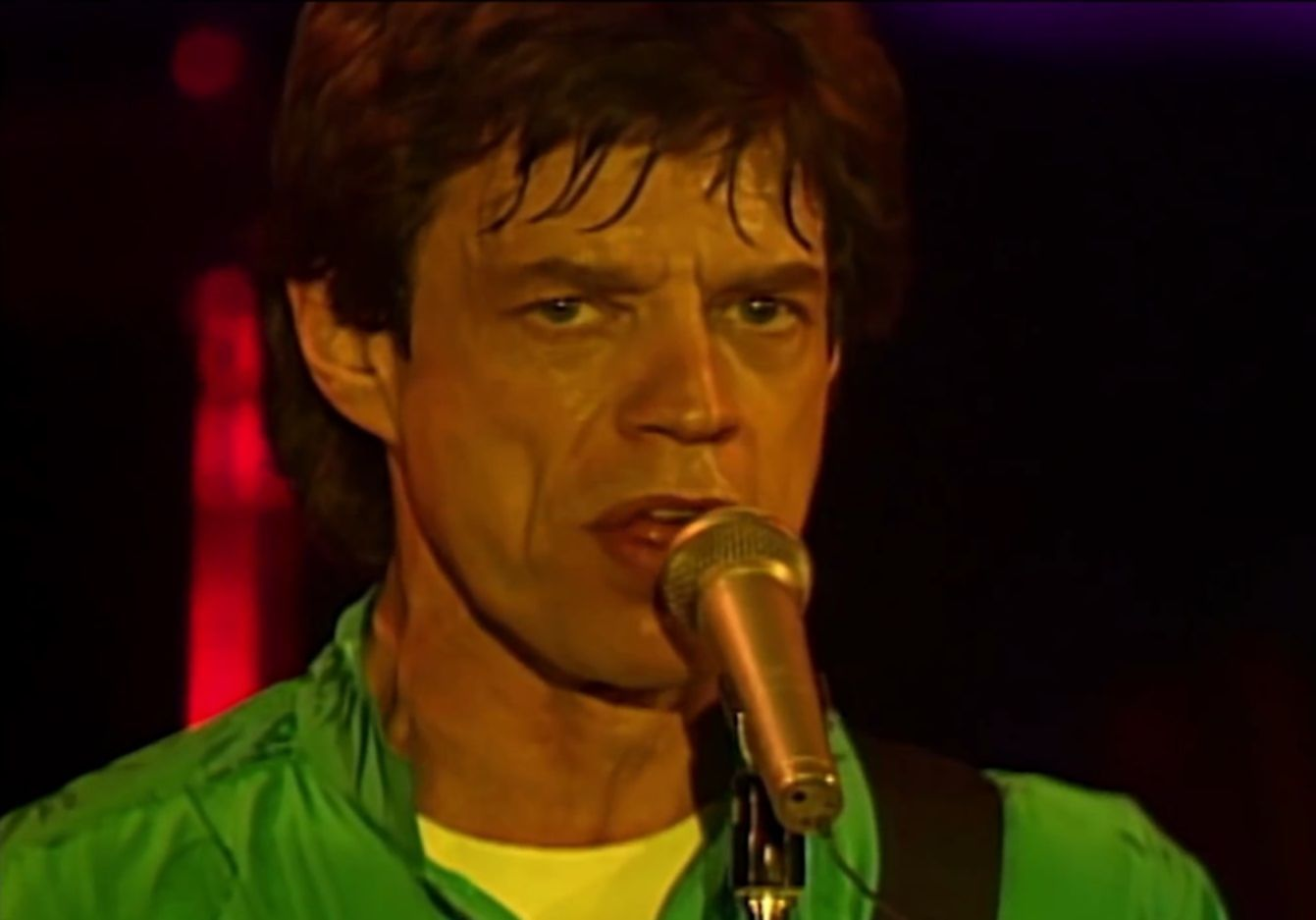 Mick Jagger video still 1990