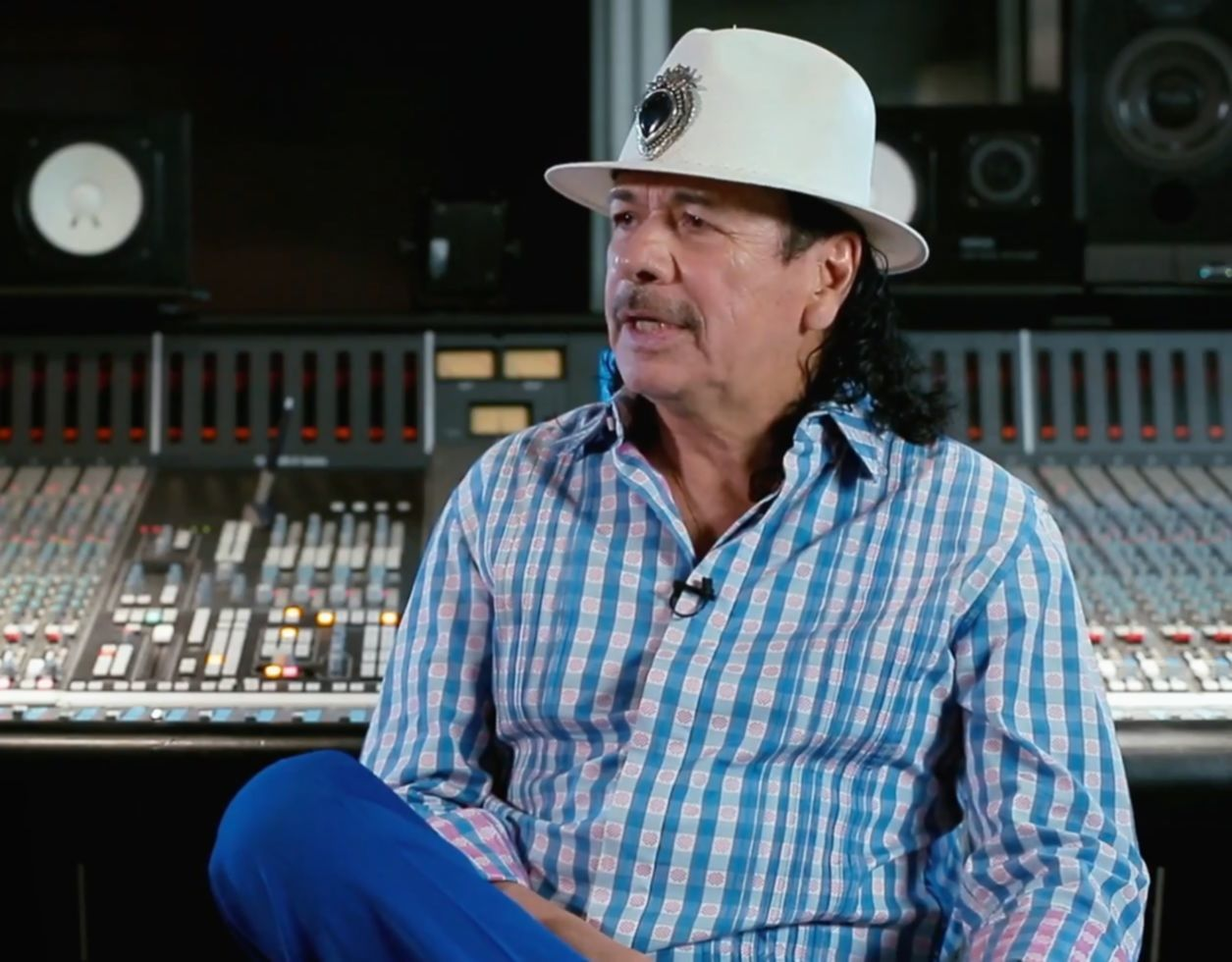 Santana making of video still 2016