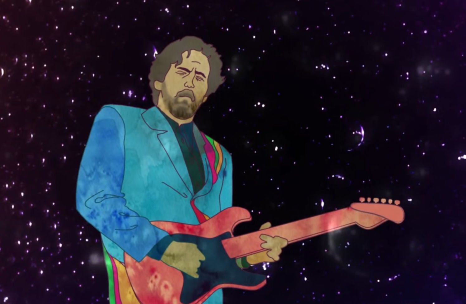 Eric Clapton spiral video still