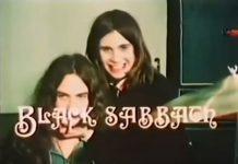 Bill Ward und Ozzy Osbourne kurz vor ihrem Auftritt in Paris 1970.