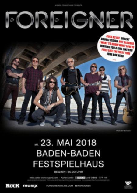 Foreigner kommen 2018 für ein Konzert nach Deutschland.