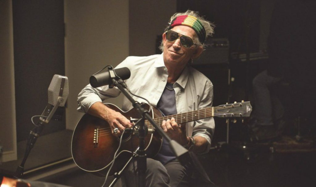 Keith Richards im Studio
