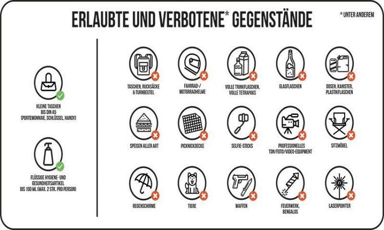 Rolling Stones Berlin Sicherheit Regeln