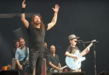 Foo Fighters live mit Kind