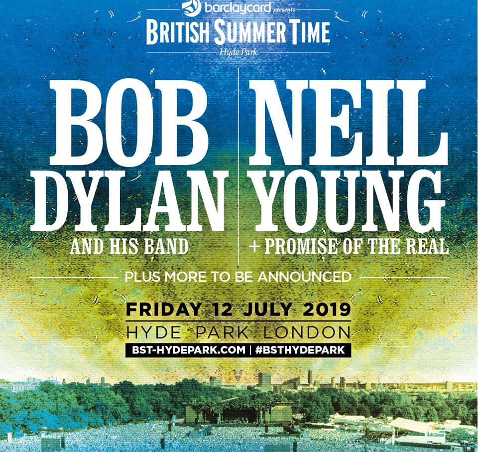Bob Dylan und Neil Young Hyde Park