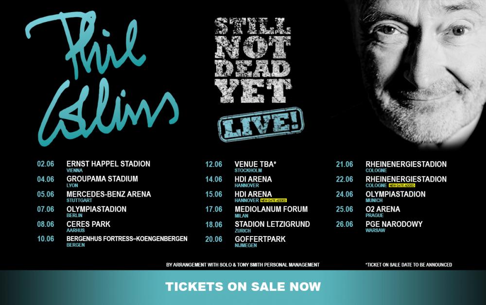 Phil Collins Deutschland Tour Zusatzshows