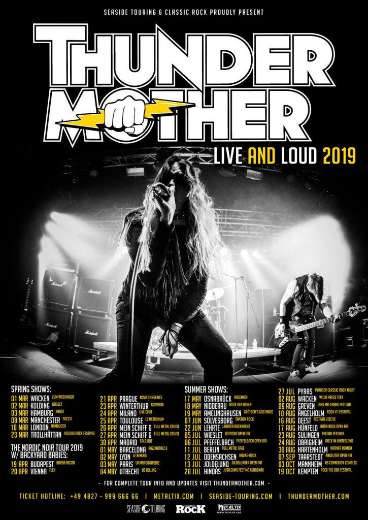 Thundermother - Live and Loud 2019 Tour