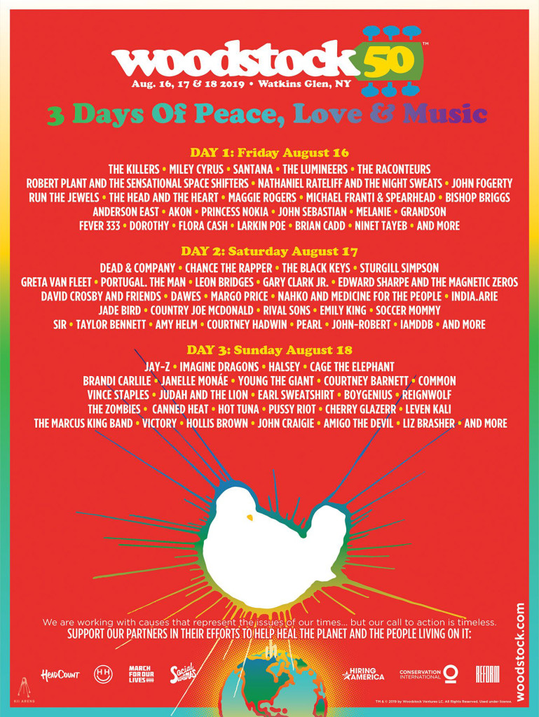 Woodstock 2019 Lineup