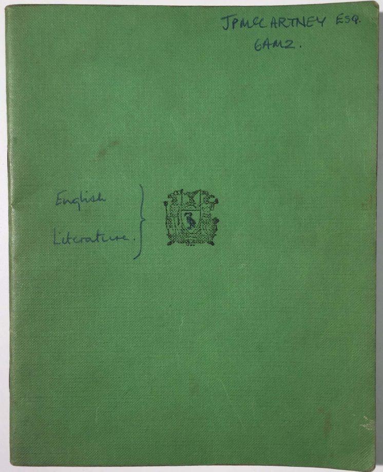Paul McCartney Schulbuch versteigert