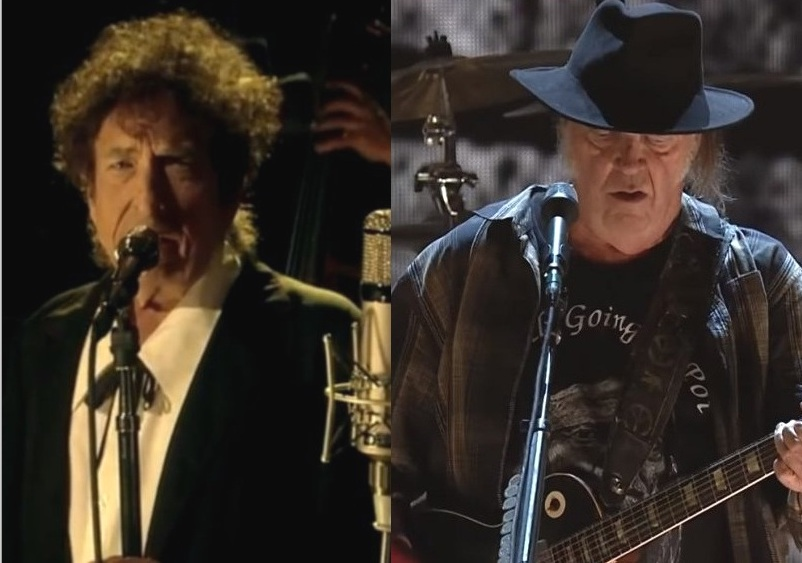 Bob Dylan Neil Young live