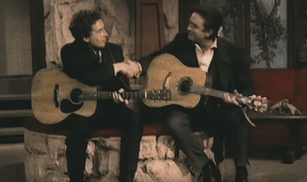 Bob Dylan und Johnny Cash singen Wanted Man