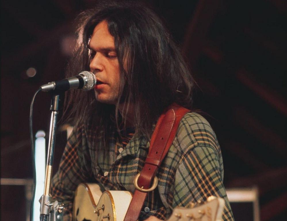 Neil Young bei den Aufnahmen zu Harvest